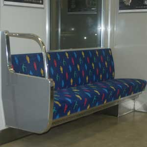 Reserved seat on Osaka railway car